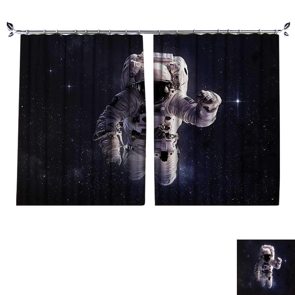 DESPKON Decoration Polyester Material Astraut in Outer Space Stardust Nebula in Milky Way Cosmaut for Children's Room W108 x L96
