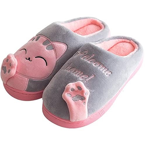 amazon com chicpro cute women ladies cat slippers winter warm
