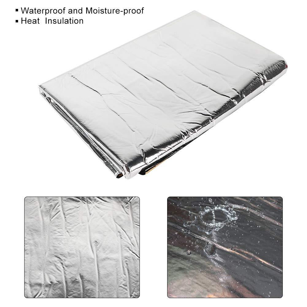 Qiilu 60x40inch 5mm Car Sound Deadener Proofing Foam Deadening Vehicle Heat Shield Insulation Mat