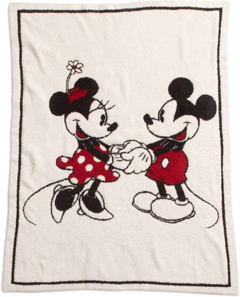 Amazon Com Barefoot Dreams Cozychic Classic Mickey Minnie Mouse
