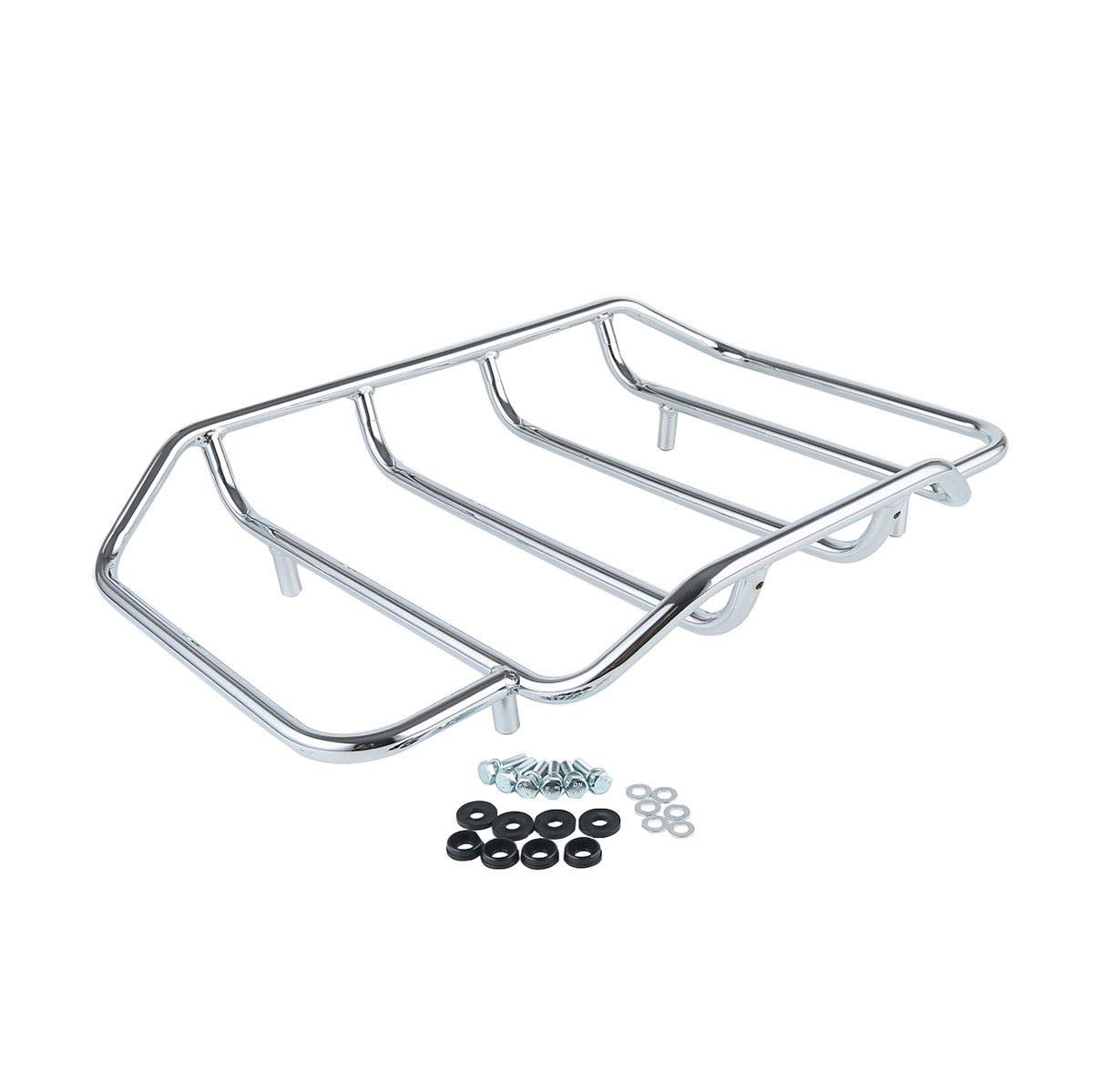 2 Up Pack Air Wing Luggage Rack W/ Light For Harley Touring Street Road Glide Ultra Classic Fltr Flhx Motorcycle Accessories & Parts Bags & Luggage