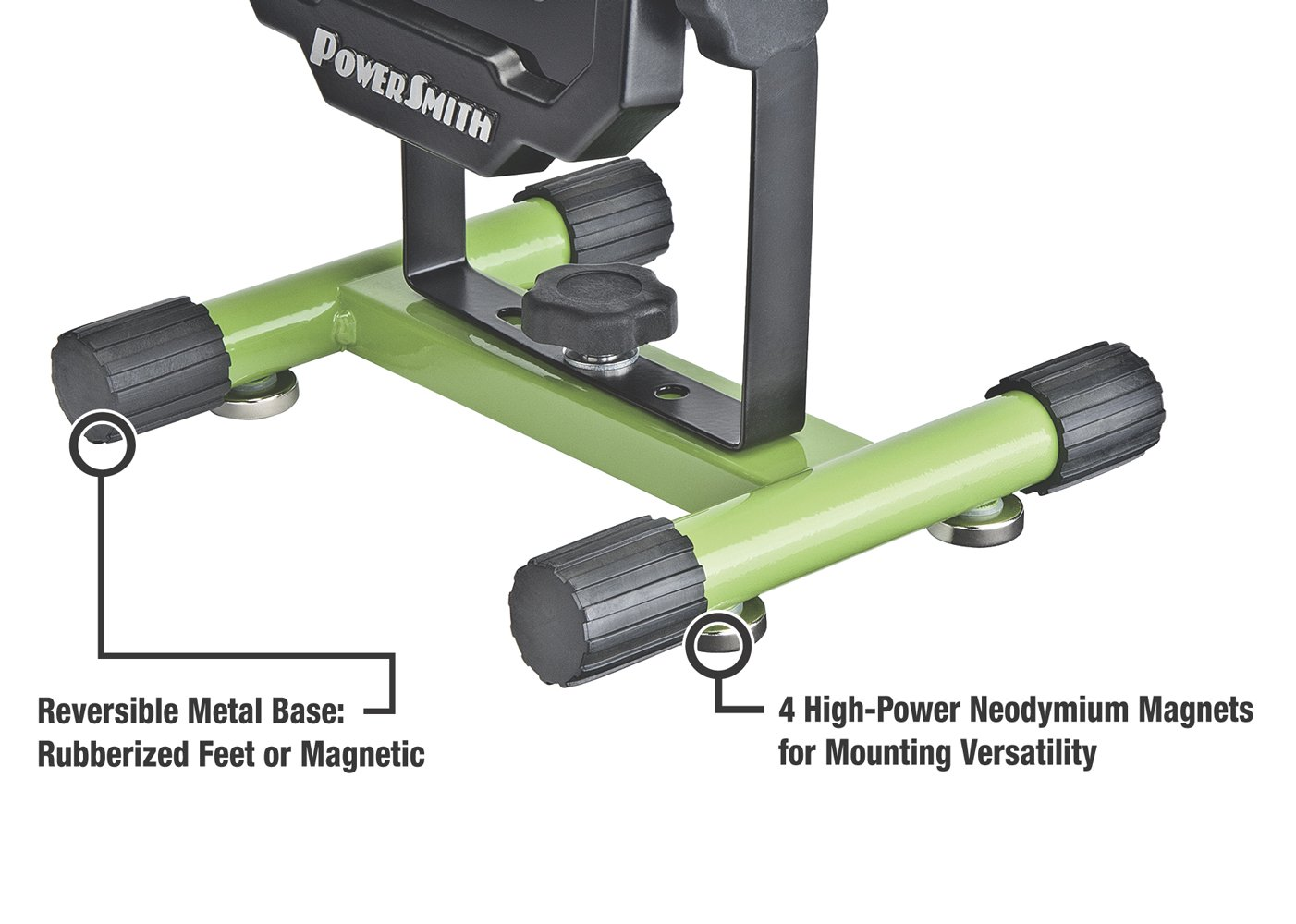 PowerSmith PWLR1110M 900 Lumens Magnet Base with Rechargeable Lithium Ion Battery Portable Work Light with Charger & Metal Stand by POWERSMITH (Image #2)