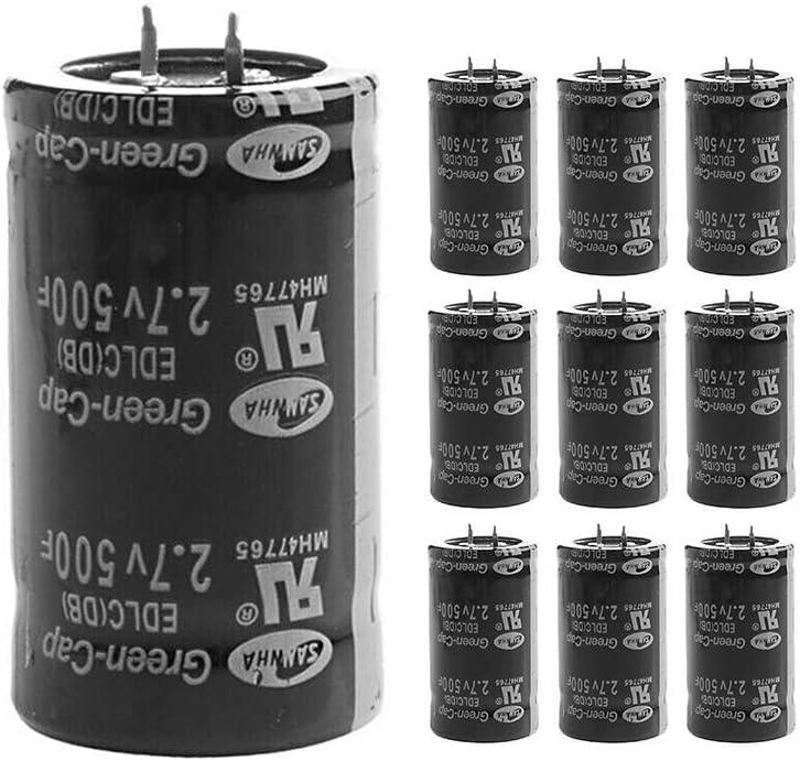 KKmoon 10pcs 2.7V 500F Capacitors Car Capacitor Farad Capacitor Super Farad Capacitor 3560mm