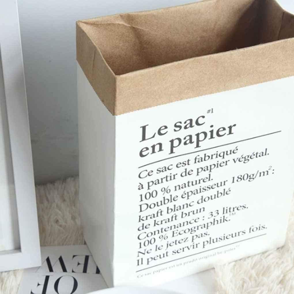 LEVEL GREAT Piccolo Grande Formato Doppi Strati Kraft Paper Bag Piante Fiori Vaso per Bambini Giocattoli Libri Sundries Organizzare Luandry Carrello