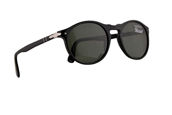 c5439052b340 Image Unavailable. Image not available for. Color: Persol PO3204S Sunglasses  Black w/Green Lens ...