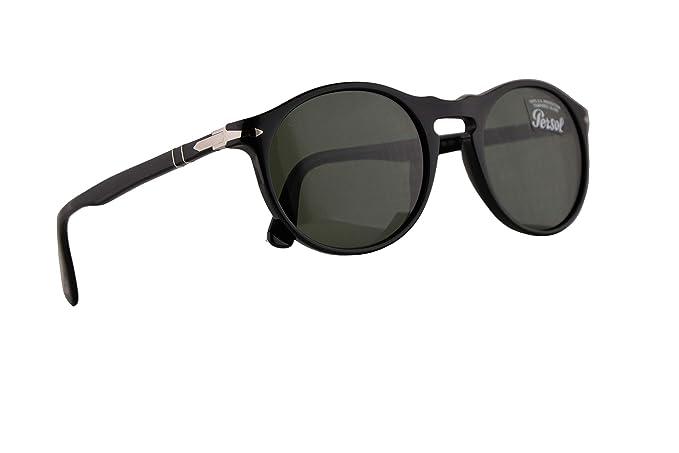 Persol PO3204S Gafas De Sol Negras Con Lentes Verde Oscuro ...