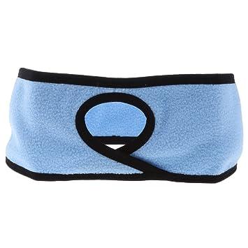 Baoblaze Ladies Head Band Sweatband Sports Headband for Running Walking  with Pony Tail Hole - Blue bf689172ed6