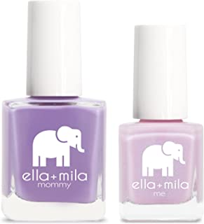 product image for ella+mila Nail Polish, mommy&me set - Lavender Fields + Isla View