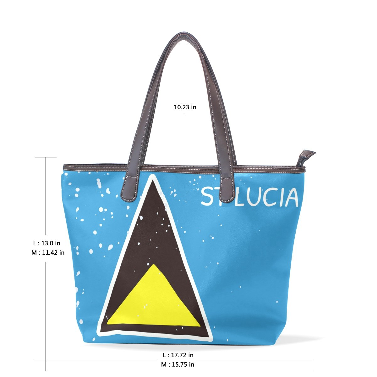 Distressed Lucia Flag Womens Fashion Large Shoulder Bag Handbag Tote Purse for Lady