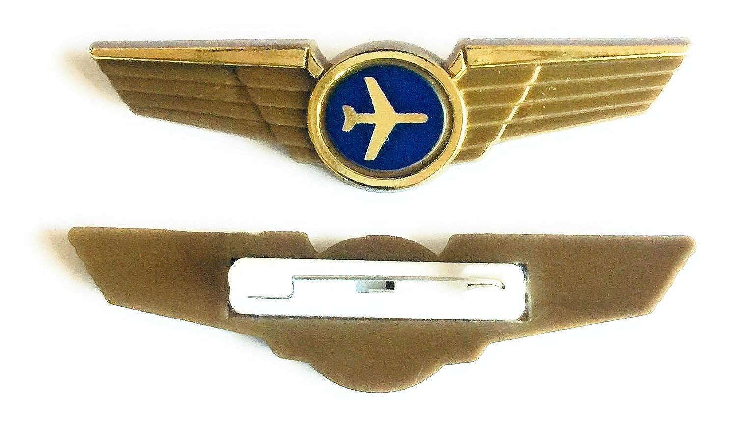 Aviator Kids Pilot Wings Plastic Pins Pinbacks Badges Lot of 10 Pins Gold