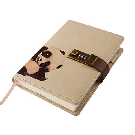 amazon com toim cute animal theme pu leather journal writing
