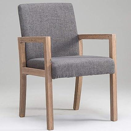Yisaesa Sillón Minimalista Moderno, sillón de Madera sólido ...