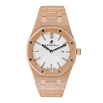 Image Unavailable. Image not available for. Color  Audemars Piguet Ladies  Royal Oak 33mm Frosted Rose Gold ... ab4d304248