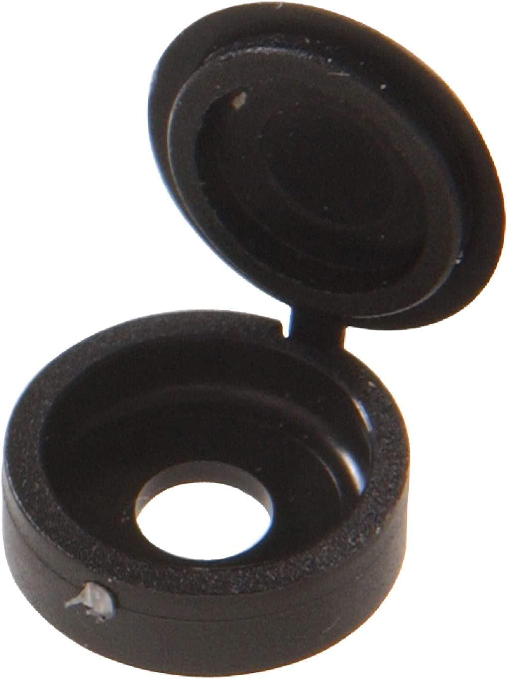 """Hillman 59052 Black Hinged Screw Covers (1/4"""") - 10 pieces"""