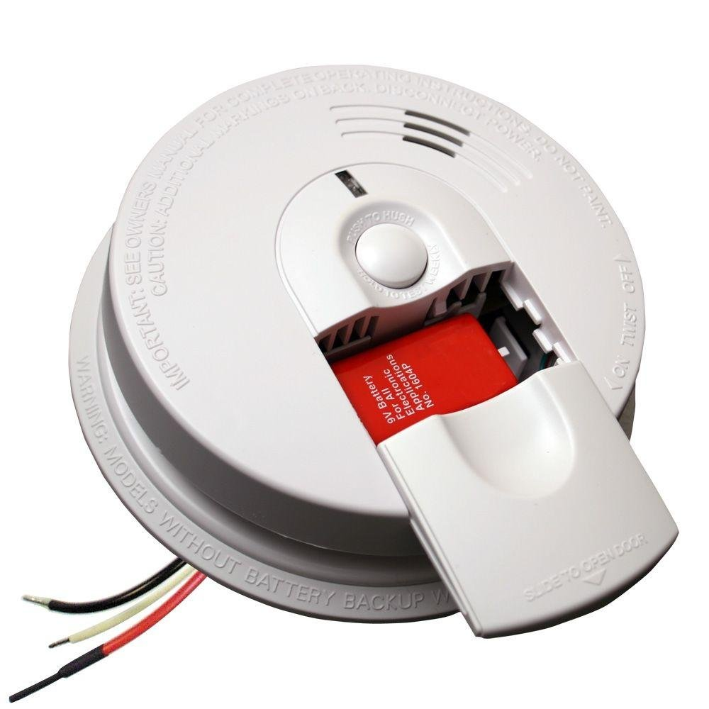 Kidde FireX Hardwire Smoke Detector with 9V Battery Backup and Front Load Battery Door | Model i4618AC by Kidde