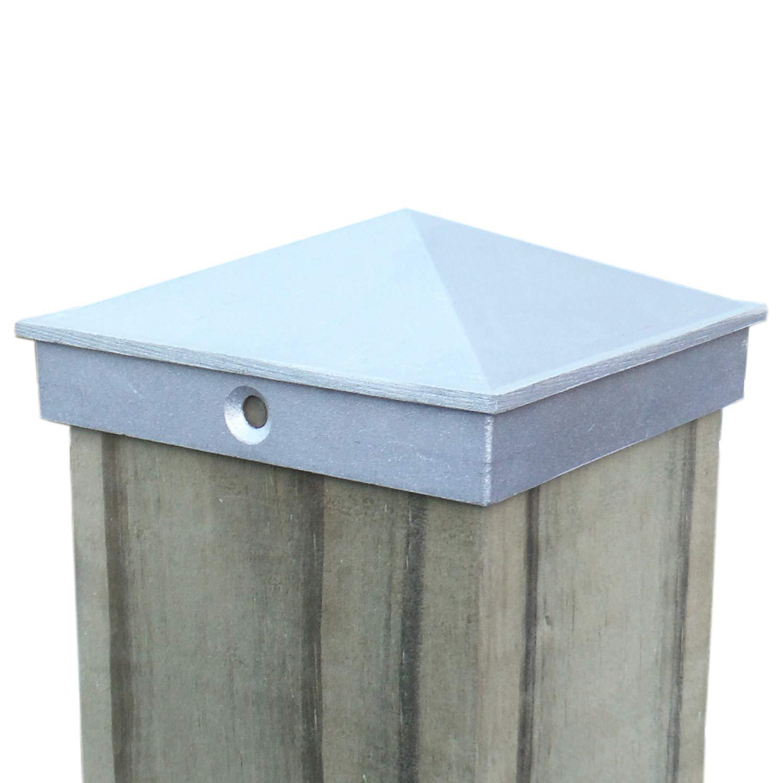 4x4 Fence Post Cap (3 1/2) 4 PACK Decorative Aluminum - Mailbox, Lamp Post, Deck, Dock, Piling Caps
