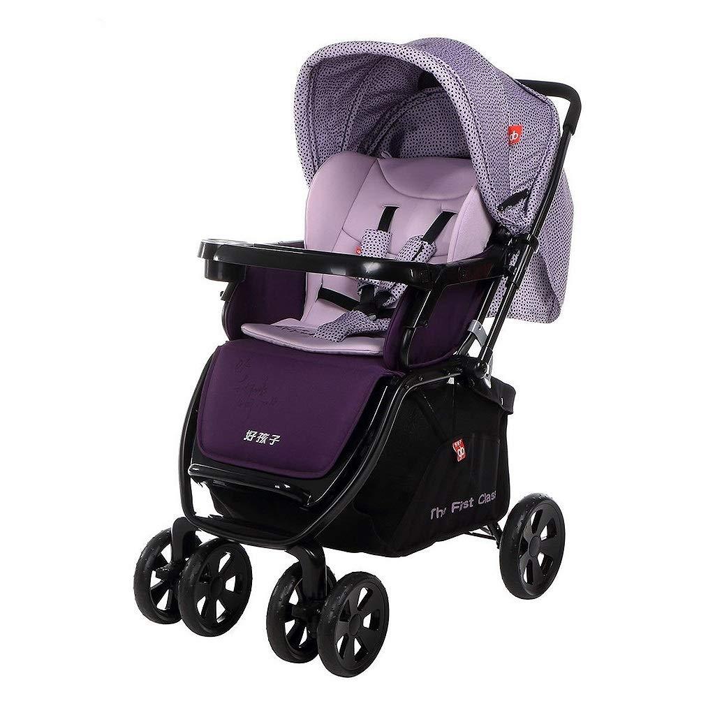 リバーシブルベビーカー、折りたたみ傘ベビーカー、子供と大型ストレージバスケットと日の保護のための四輪の衝撃吸収器カーポート (色 : (色 Purple) B07LBPQMPQ : Purple B07LBPQMPQ, コンプモト:de8a910b --- bennynews.com