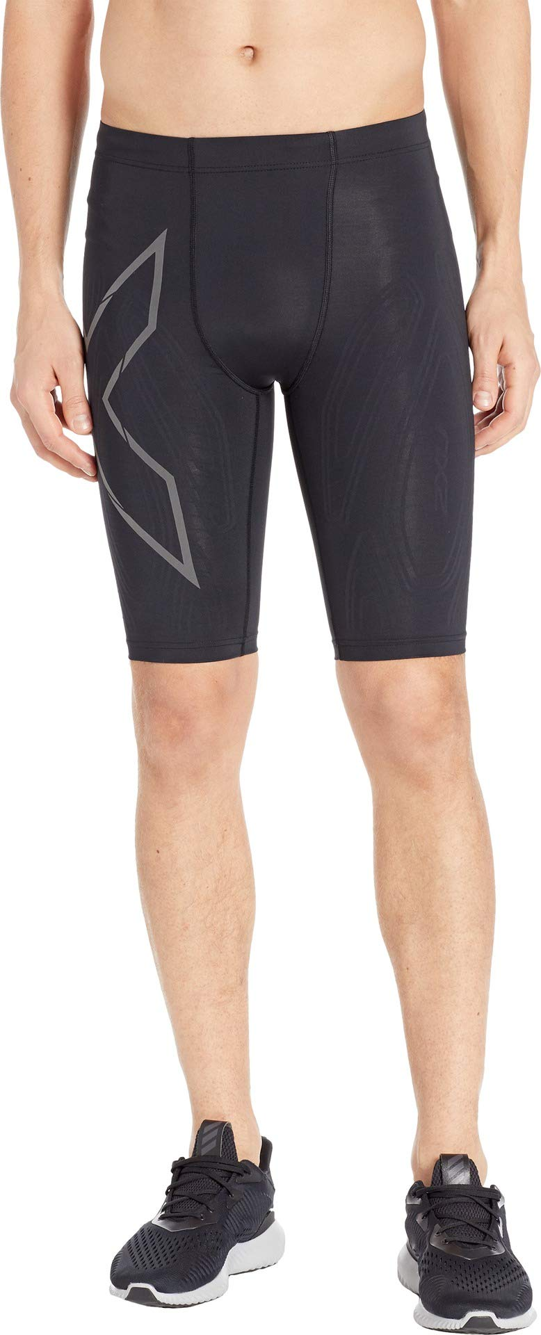 2XU MCS Run Compression Short, Black/Black Reflective, Medium