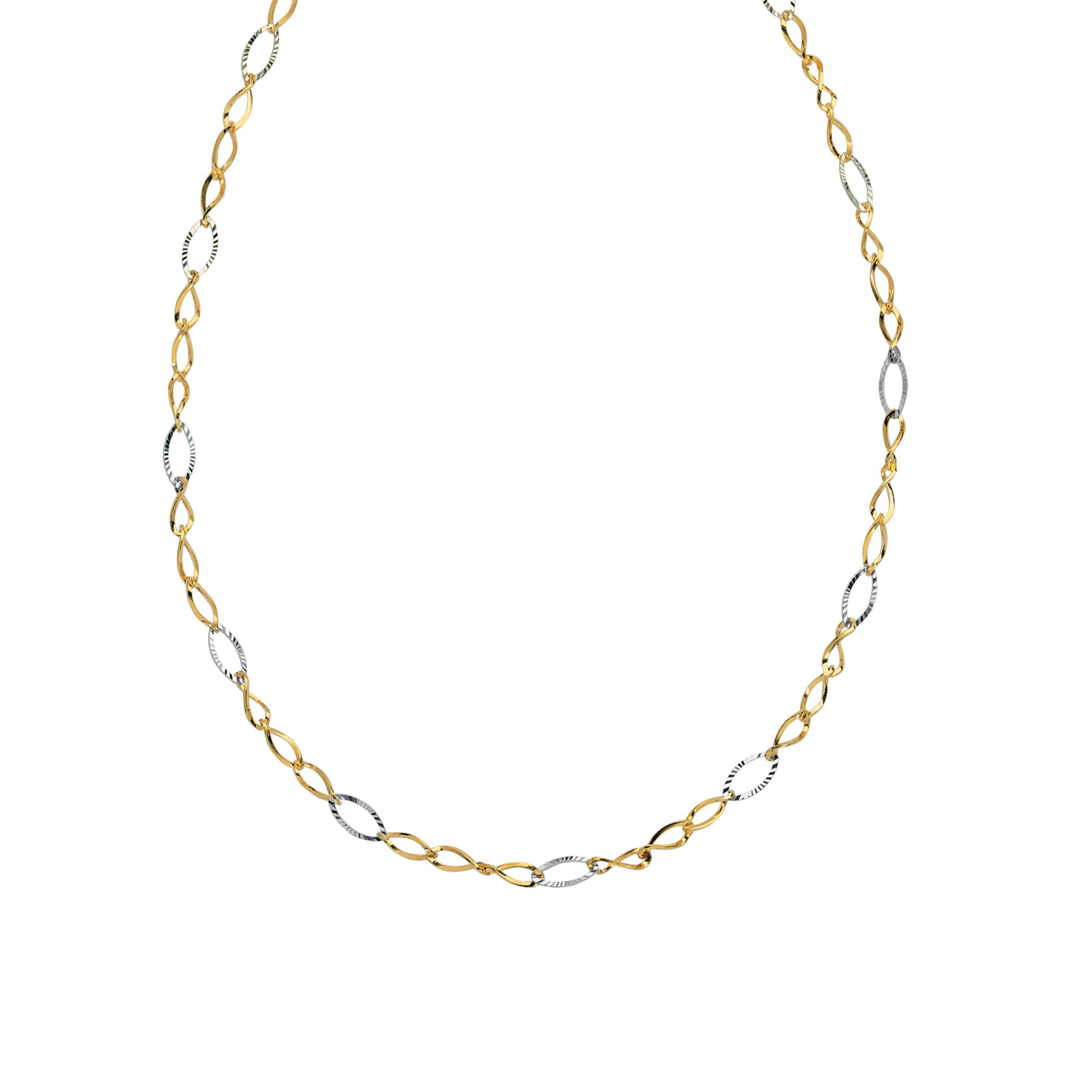 Three Layer Station Style Bib Necklace 14k Yellow Gold with Beads and Twists
