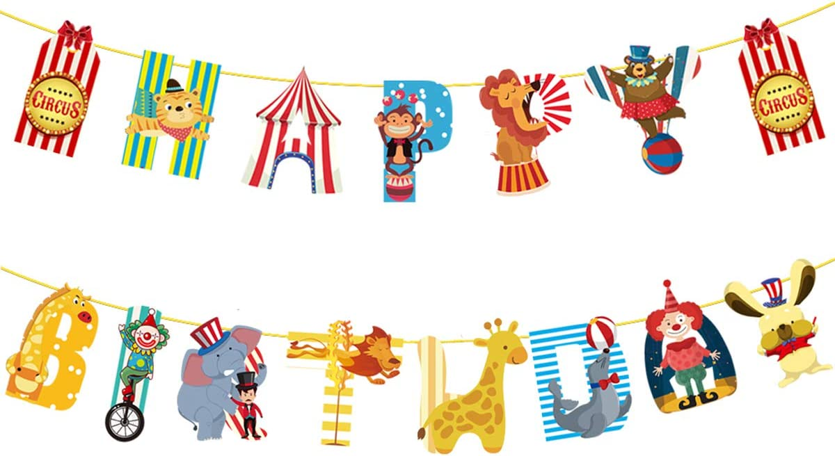 Bunting Decoration for Circus Carnival Party