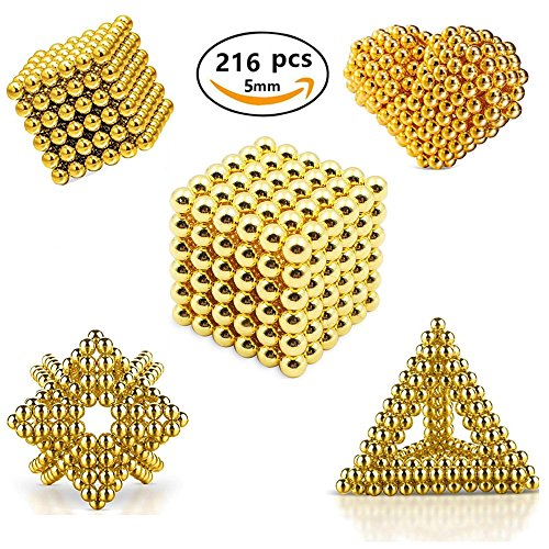 Kui Ji Toys Magnetic Ball, Magnetic Sculpture Toys for Intelligence Development and Stress Relief (5MM Set of 216 Balls)