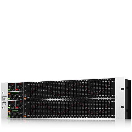 Behringer FBQ6200 ecualizador de sonido - ecualizadores de sonido (Negro, Gris, 13,