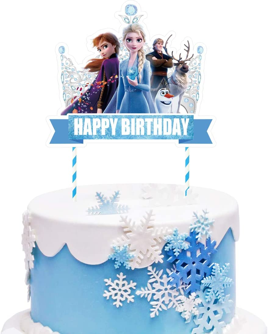 Decor Frozen Happy Olaf Edible Cake Topper OR Cupcake Topper