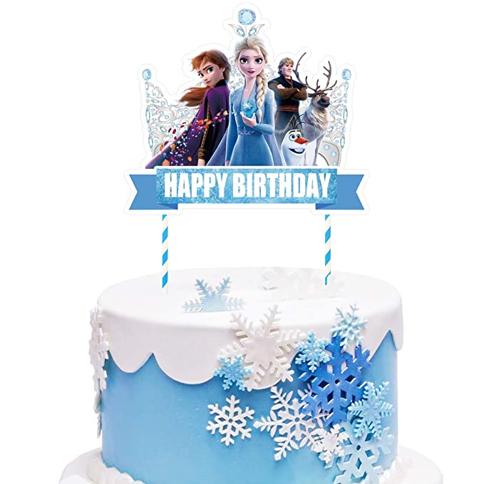 Astonishing 1 Decorations For Frozen Cake Topper Set Cake Topper Decorations Funny Birthday Cards Online Elaedamsfinfo