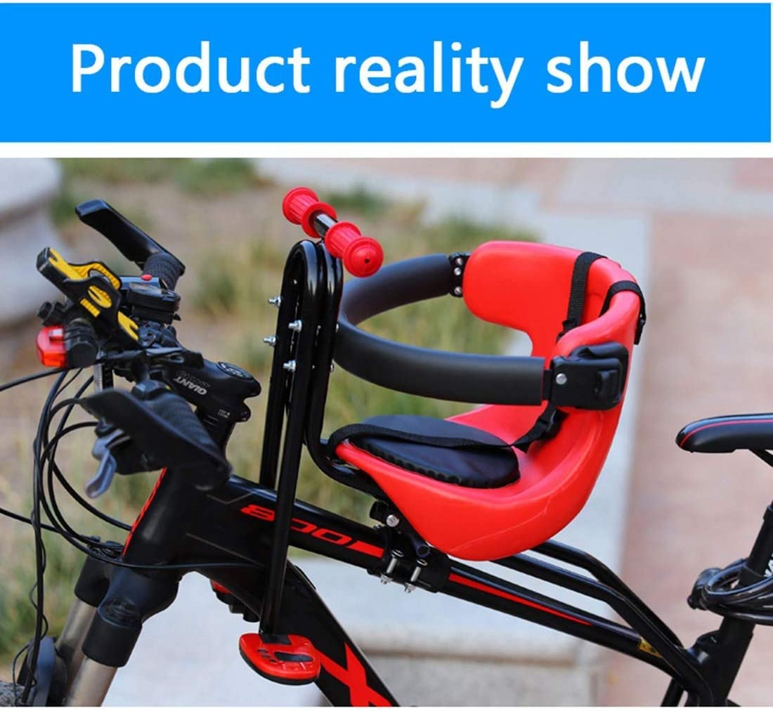 Bicycle Baby Seat Front Seat Saddle with Seat Belt TAIYH Bicycle Safety Child Seat Child Safety Cushion with Backrest Foot Pedals