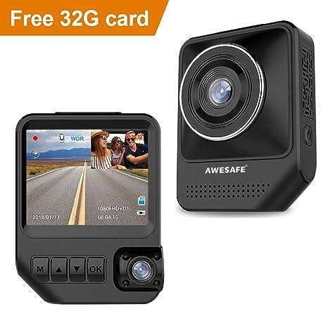 Amazon Com Awesafe Dual Dash Cam For Cars Front And Inside Dash Cam