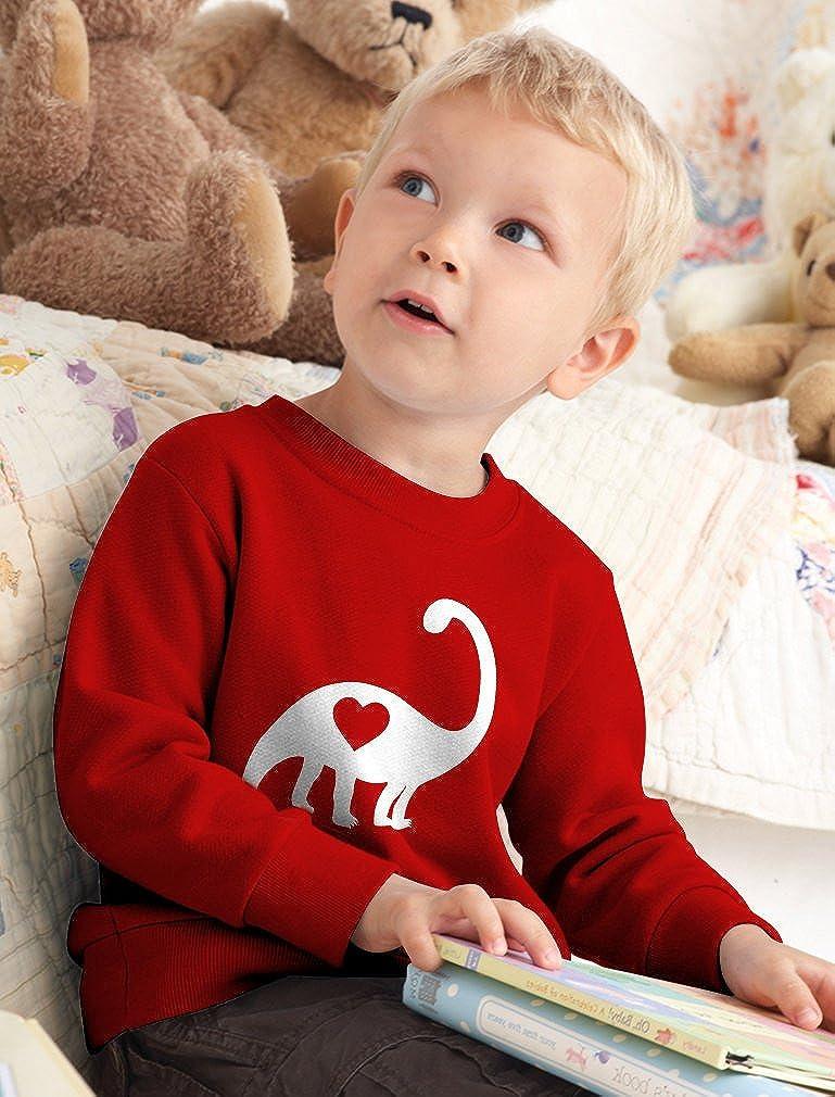 Valentines Day Dinosaur Love Heart Gift Cute Toddler//Kids Sweatshirt