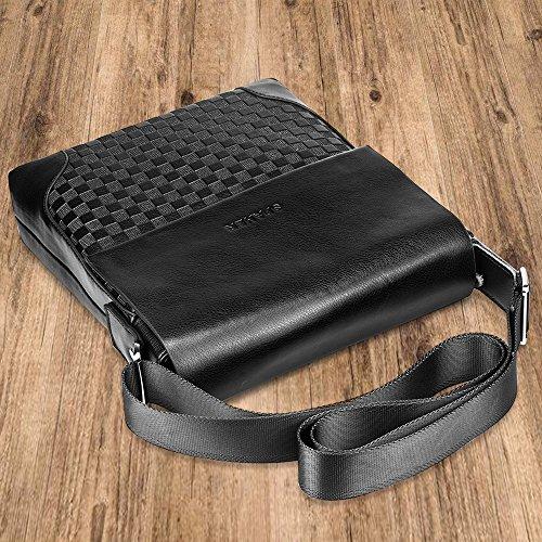 Borsetta Spaher Da Borsa Pelle Tablet Kindle Per Lavoro Body Con Viaggio In Elegante Nero Messenger Tracolla Ufficio Cross Regolabile Uomo A Ipad vx4rXqvwgB