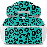 Skin For DJI Goggles – Teal Leopard | MightySkins Protective, Durable, and Unique Vinyl Decal wrap cover | Easy To Apply, Remove, and Change Styles | Made in the USA