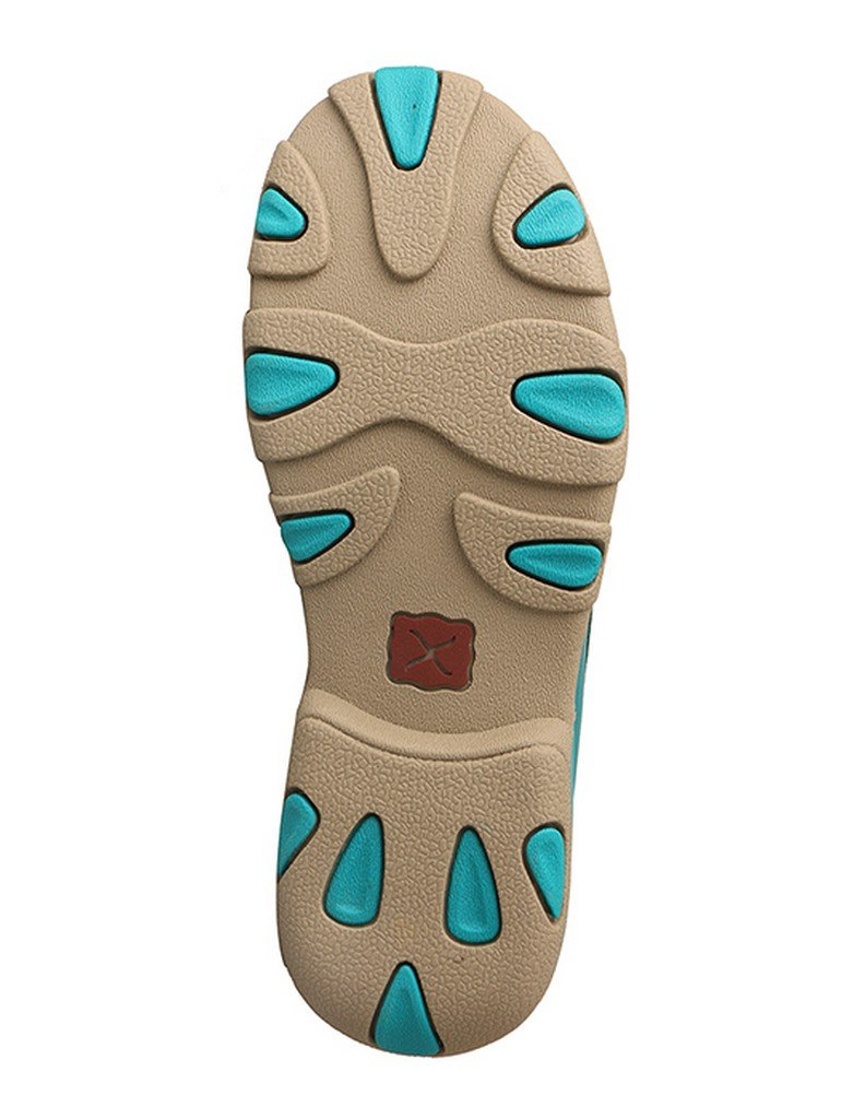 Twisted X Kid's Driving Moccasins - Turquoise/Leopard (3) by Twisted X (Image #4)