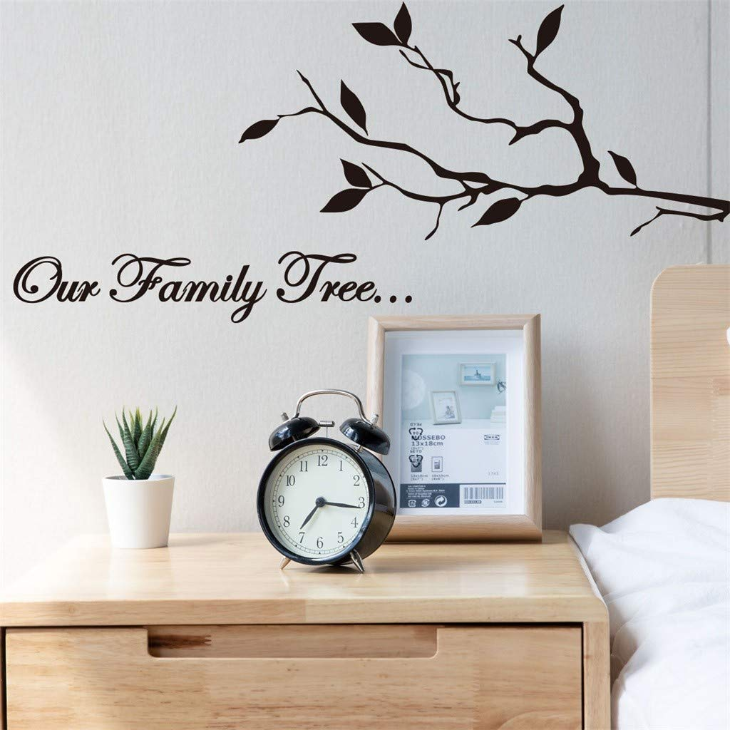 Hoshell DIY Our Family Tree Home Decor Wall Sticker Decal Bedroom Vinyl Art Mural Quotes Stickers