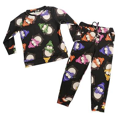 Navidad impresión chándal pijamas niños niños niñas ropa de dormir ...