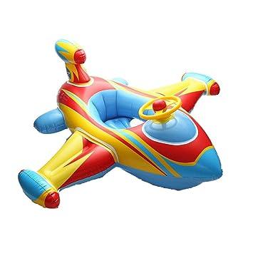 ED-Lumos Flotador Infantil Asiento Flotante Diseño de Avión Bebe 1-6 años Color Azul: Amazon.es: Juguetes y juegos