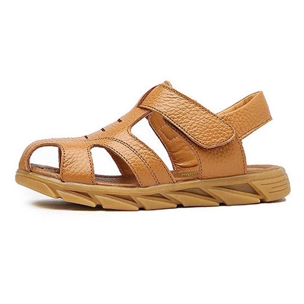 CYBLING Boys Sport Sandals Anti-Slip Adventure Seekers Closed-Toe Beach Strap Walking Shoes