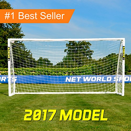 Net World Sports Weatherproof FORZA Soccer Goal, 12 x 6 Feet (Backyard Soccer Goal)