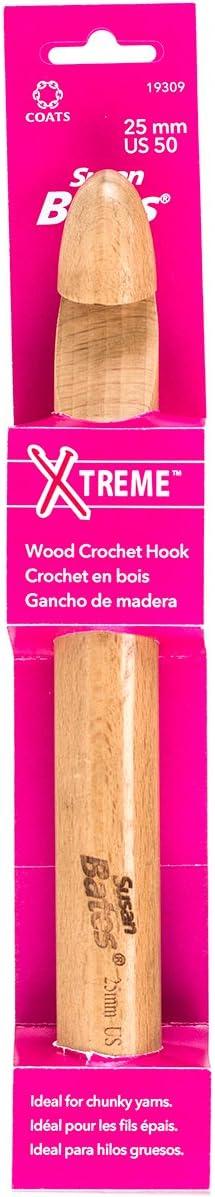 Ergonomic Crochet Hook Wooden Crochet Hook Chunky Crochet Hook Hand-turned Crochet Hook