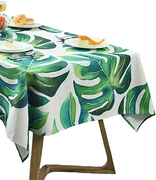 Tropical Round Tablecloth Palm Leaves Cotton Sateen Circle Tablecloth by Spoonflower Tropic Of Cancer 002 by sovendebjorn