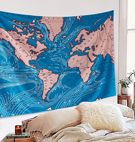 Locust Ocean Current Tapestry Wall Hanging Bedspread for sale  Delivered anywhere in USA