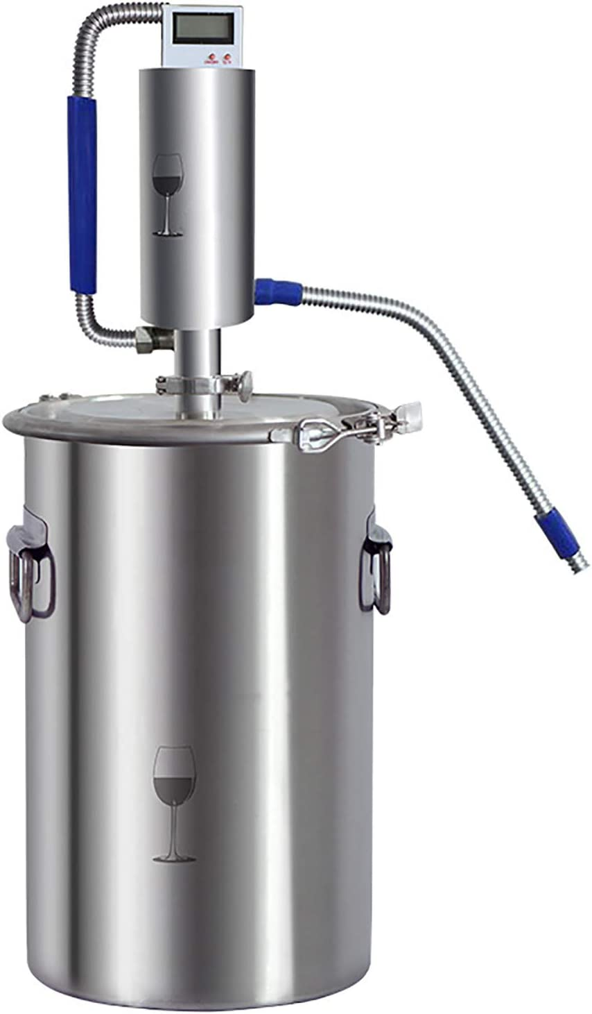 CLING Destilador de Alcohol Moonshine Still Kit Destilador de Aceite Esencial para el hogar, Acero Inoxidable, Sello Alto con para Bricolaje, Whisky, Brandy, Agua destilada, hidrolatos, Vino