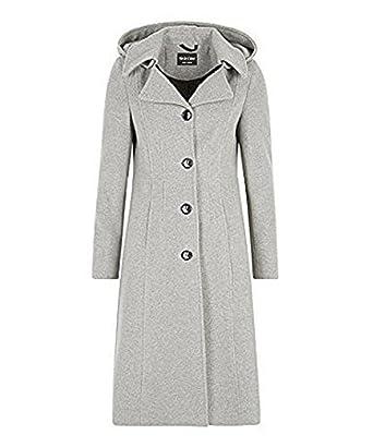658e50cdf2279 La Crème - Femmes laine hiver et Cachemire femmes à capuche mi-long manteau  -