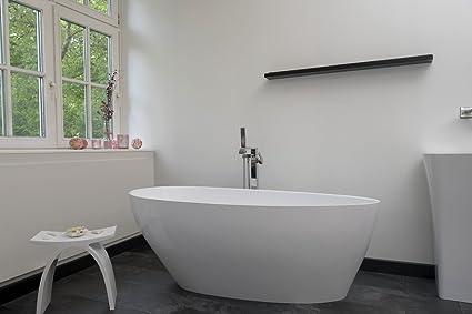 Vasca Da Bagno Ghisa : Vasca da bagno autoportante in ghisa minerale ovale bianco con