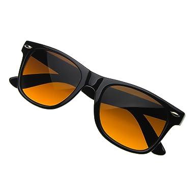 Lunettes de soleil de BLUE BLOCKER KISS ® mod. AVIATOR-ambrée lentille vs. Lunettes de soleil spécial bleu clair homme femme - NOIR bQ5xQM3v8