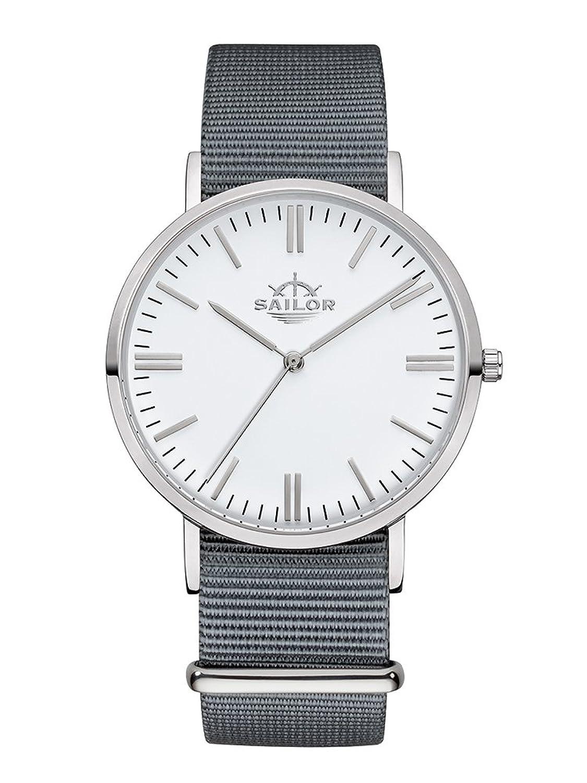 Sailor Armbanduhr Classic Moon silver mit Nylonarmband | Die Trend-Uhr 2017 auf vielen Fashion Shows von Paris bis