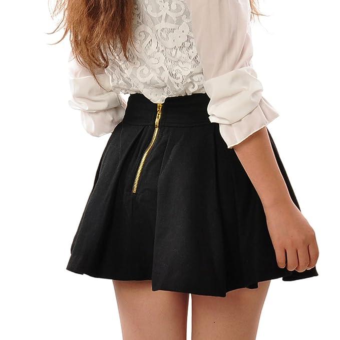 65f7fdee4 May&Maya Women's Wool Fabric Gathered Mini Skirt at Amazon Women's Clothing  store: