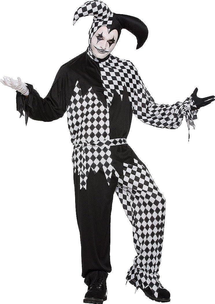 Harlequin Tights Black//White Medieval jester Clown Fancy Dress