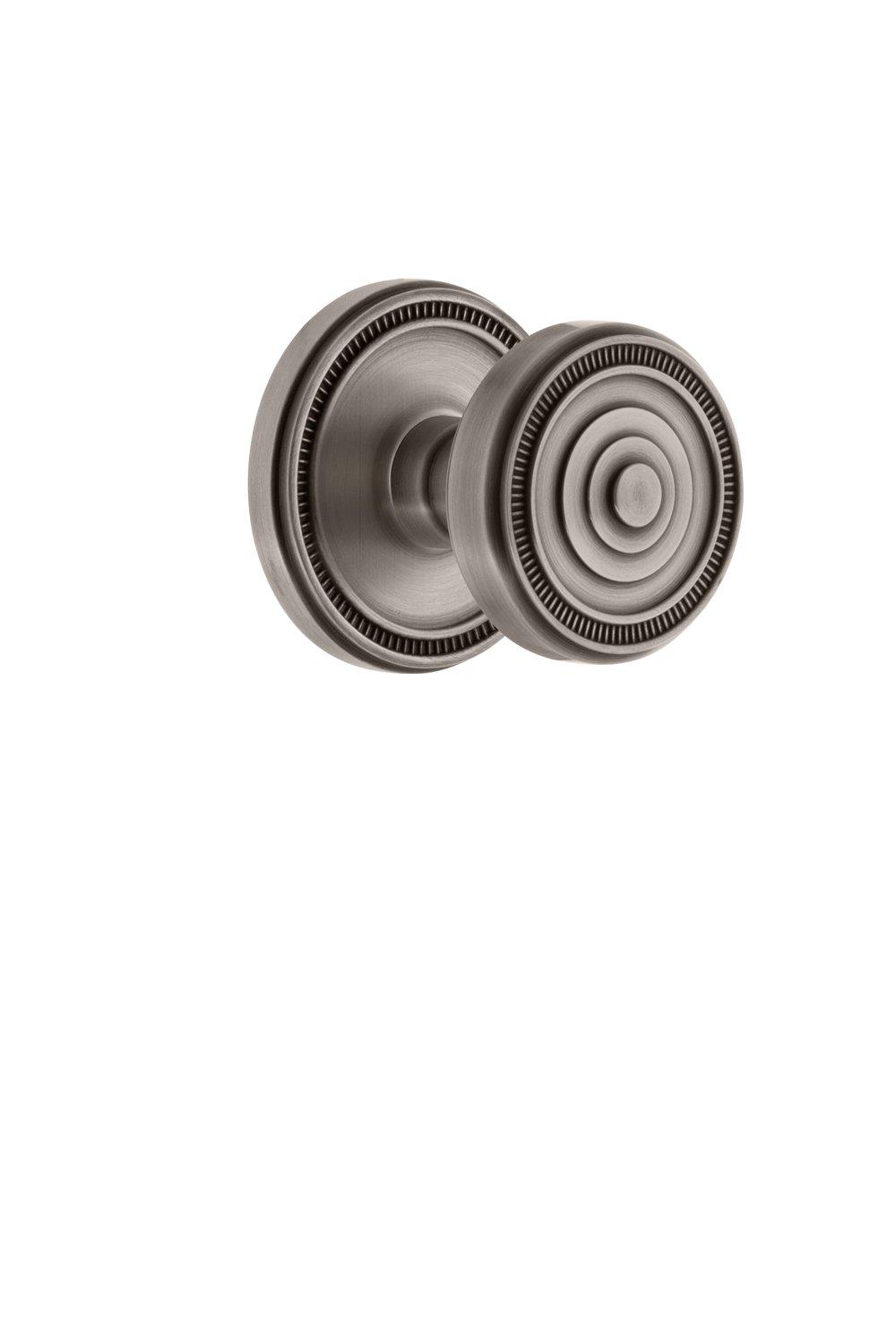 Grandeur 809231 Soleil Rosette Passage with Soleil Knob, Lifetime Brass Grandeur Hardware